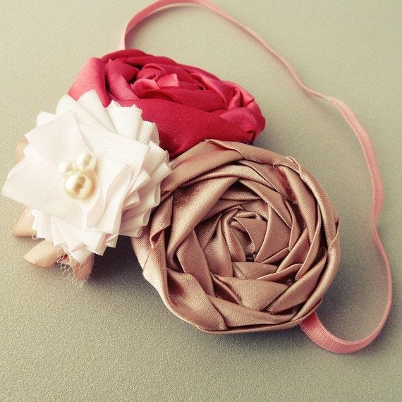 Flower Headband Tutorial: Fancy Ribbon & Fabric Flower Headband Tutorial