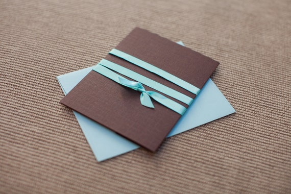 Turquoise And Brown Wedding Invitations: Turquoise & Chocolate Wedding Invitation By