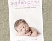 "birth announcement baby boy or girl  ""Baby Chic"""