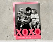 "valentine's day photo card - ""xoxo"""