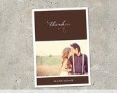 """wedding thank you card - """"Thank You"""""""