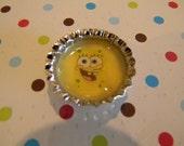 Cute Spongebob Bottlecap Magnet