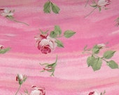 Rosees on Pink Background Cotton Quilt Fabric