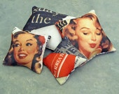 Set of 4 Sixth Scale Accent Pillows- Pin Up Girl 2