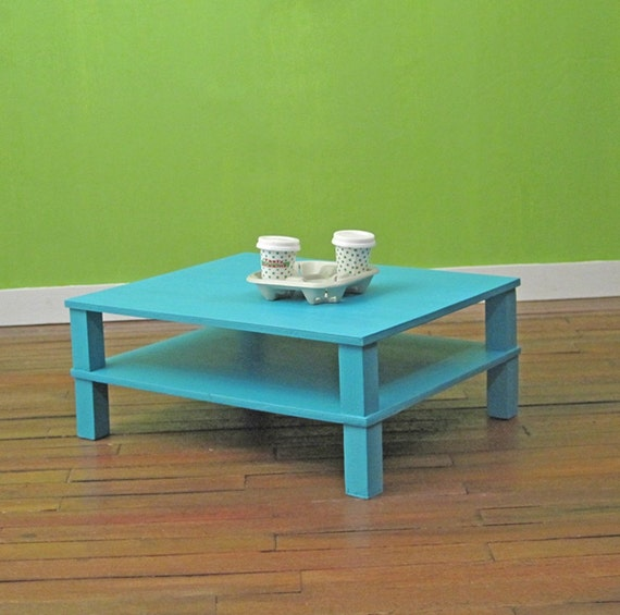 Large Modern Coffee Table A Taste Of Turquoise By Smidgehouse