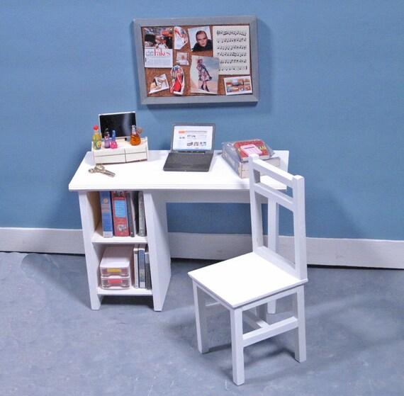 SALE - Aspen White Study Desk with Tackboard - 1/6 Scale Furniture