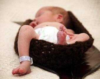 Crochet Baby Pod Newborn Bowl Photo Prop - Crochet Newborn Bowl