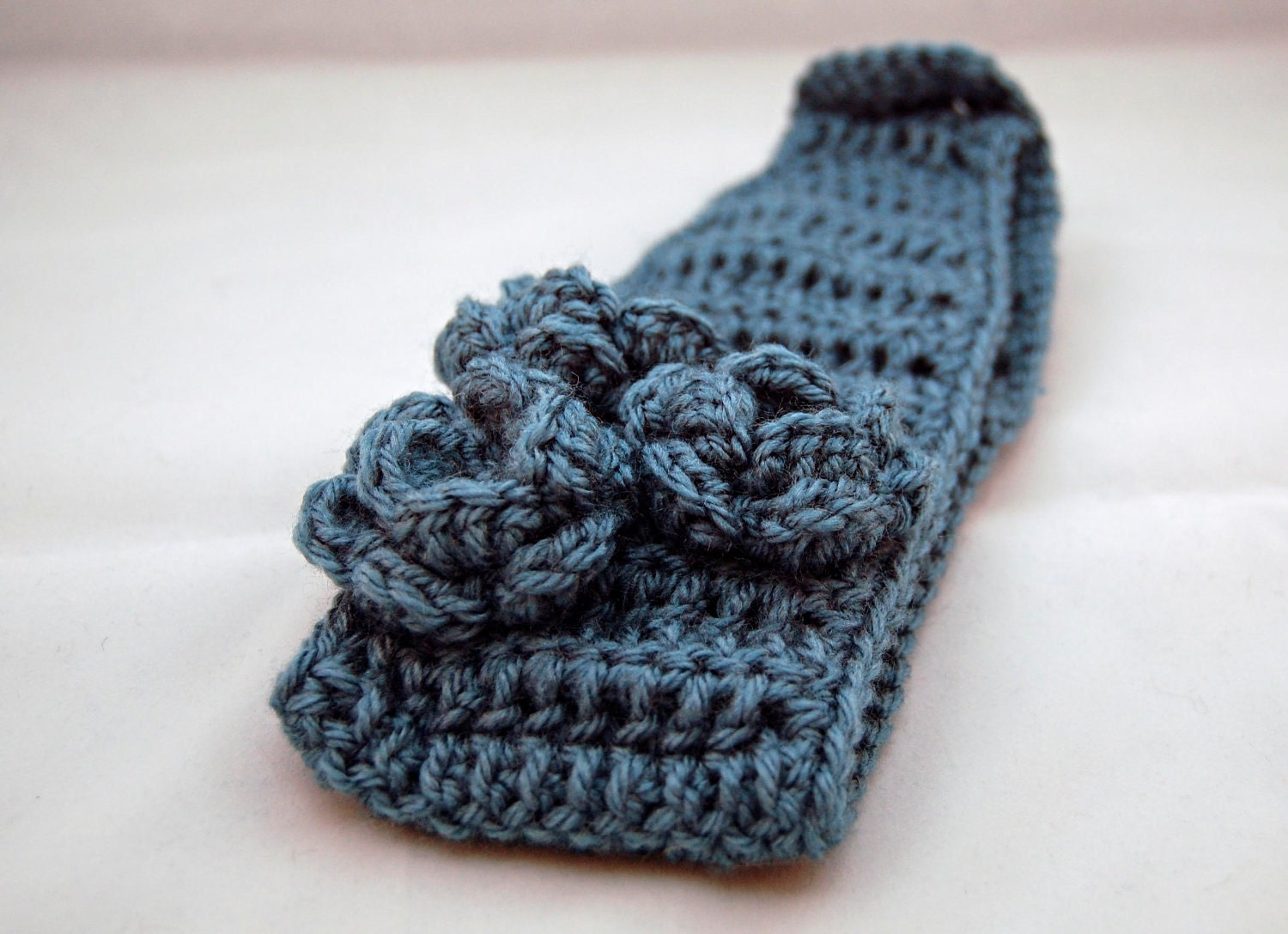 Free Crochet Pattern Headband Ear Warmer Button : PDF Crochet Pattern Headband Ear Warmer with Roses INSTANT