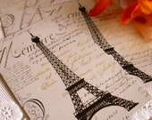 Charming Set of Vintage Inspired Playing Cards - Eiffel Tower