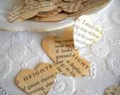 Wuthering Hearts Confetti  / Vintage Heart Confetti / 500 Pieces  / Valentine's Decor / Party Confetti