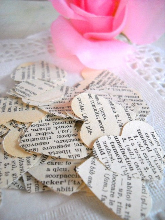 Sweet Vintage Italian Paper Heart Confetti Punches