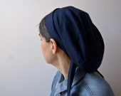 Solid Navy Snood Headcovering