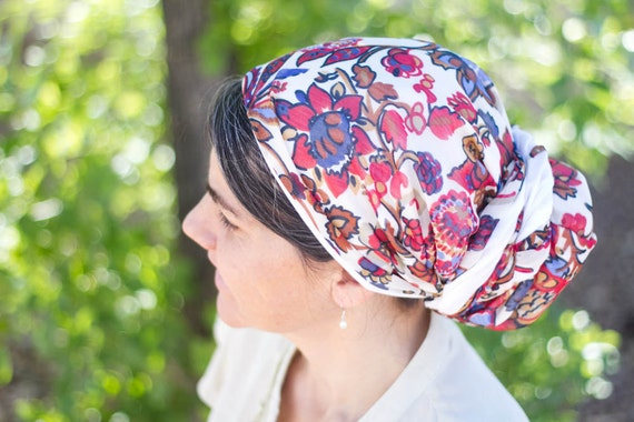 Paisley Tichel Headcovering Head Cover Headscarf Scarf