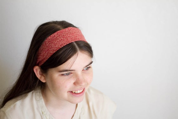Red Print Hairband -- Cute Headban Headcovering -- Head Band for Ladies Girls and Teens