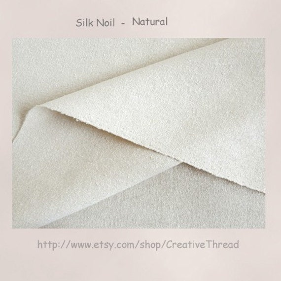 """Silk Noil Fabric - Natural Color - Medium Weight - Sewing - Costuming - Home Decor - Crafting - 45"""" Wide - 1 Yard"""