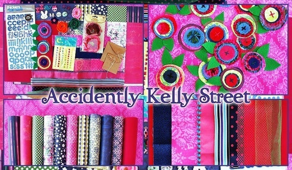 SALE accidently kelly street scrapbook kit