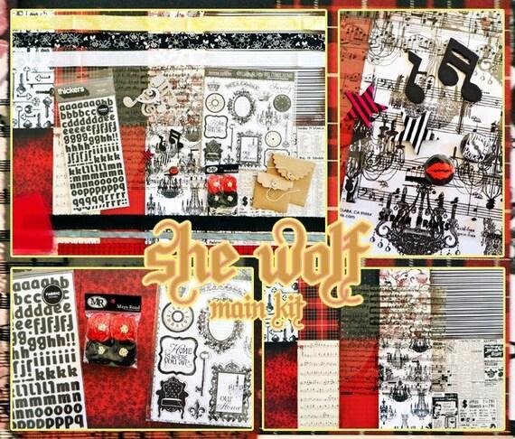 she wolf scrapbook kit
