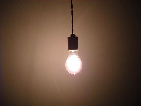 Items Similar To Industrial Bare Bulb Hanging Pendant