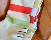 Vintage 3 1/2 Point Hudson Bay Style Wool Camping Blanket
