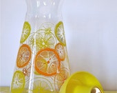 Vintage Mid Century Pyrex Orange Juice Pitcher Or Carafe