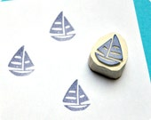 Sailing boat - Special Summer hand carved rubber stamps