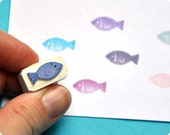 Little fish - Special Summer hand carved rubber stamps