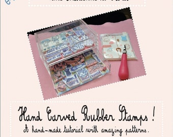 My Hand Carved Rubber Stamps Tutorial - with a lot of patterns
