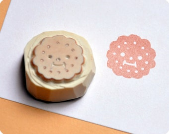 Special christmas cookie hand carved rubber stamp