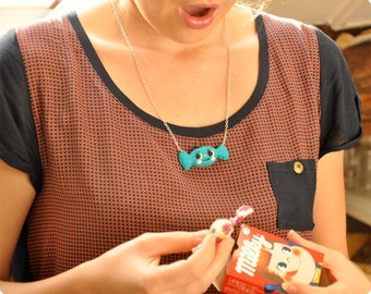 Happy felt candy necklace