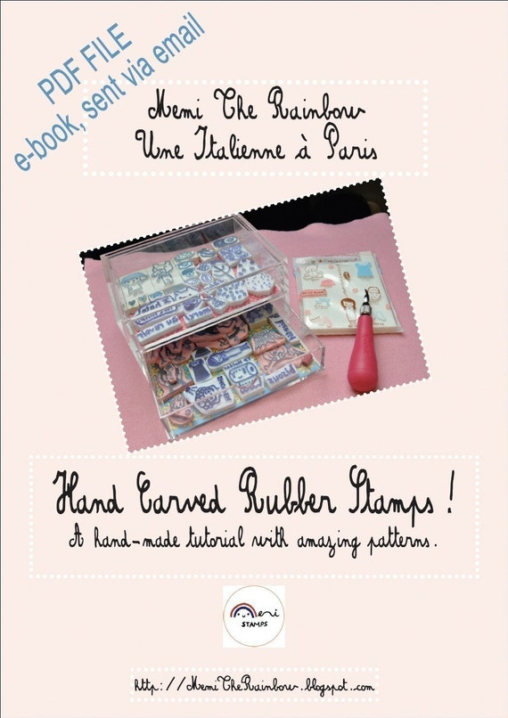 My hand carved rubber stamps tutorial with a lot of patterns