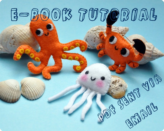 Sea animals felt mascots tutorial ebook pdf
