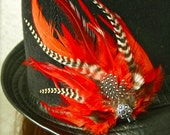 Feather Fascinator Hair & Hat Clip - CUSTOM MADE Feather Clip - Any Color Combo of Your Choice. Bridal, Festival. Hat NOT included