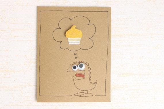 Funny Birthday Card - Unisex Birthday Card - Silly Birthday Card - Kids Birthday Card - Monster Birthday Card