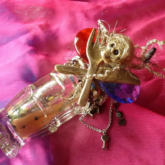 Spirit Rehab Jar, Gothic Skeleton, Spirit Rehab, Kitchen Witch, Spirit Jar, Spirit Bottle by gothb4play
