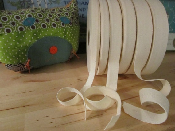 """Organic Cotton Twill Tape - By The Yard- 1"""""""
