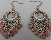 Earrings Tribal Style Copper Steampunk Inspired Now On Sale!