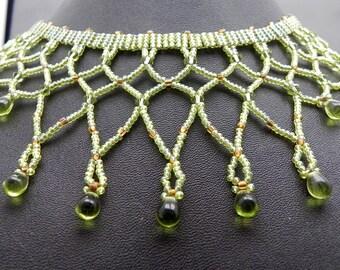Choker Egyptian Poison Beaded Collar Now On Sale!