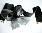 Black Abstract Flower Belt