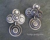 Op Art - Sterling Silver Earrings