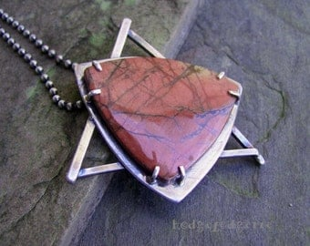 MAGEN DAVID - Creek Jasper and Sterling Silver Necklace