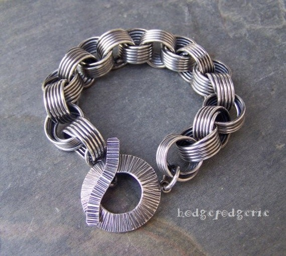 LINKED - Sterling Silver Coil Bracelet