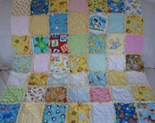 SALE-Adorable Baby Boy or Baby Girl Rag Quilt