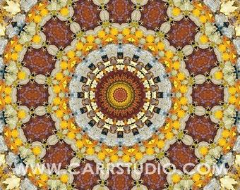 Autumn Mandala - 5x5 - Aluminum Print