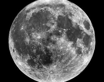 NASA Super Moon - Aluminum Print