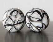 0g, 00g, 9/16g, 5/8g,1/2g, 7/8g,3/4g,1 inch gauged earrings-Spider Web Plugs