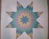 Lone Star Wall Baby Table Quilt in 30's fabric