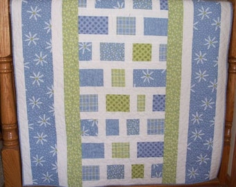 Daisy Path Little Girl Baby Wall Quilt