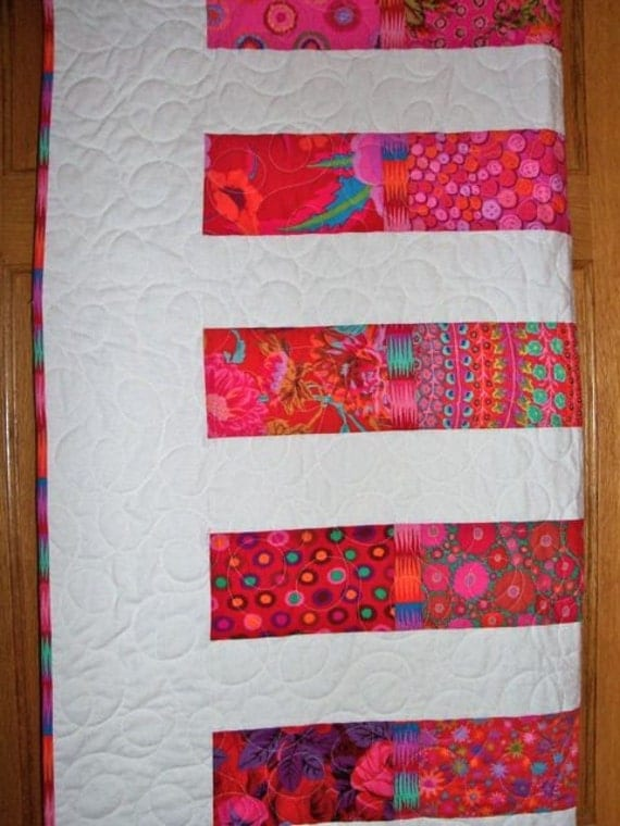 RESERVED for DEBBIE Pretty in Pink Queen Sized Quilt