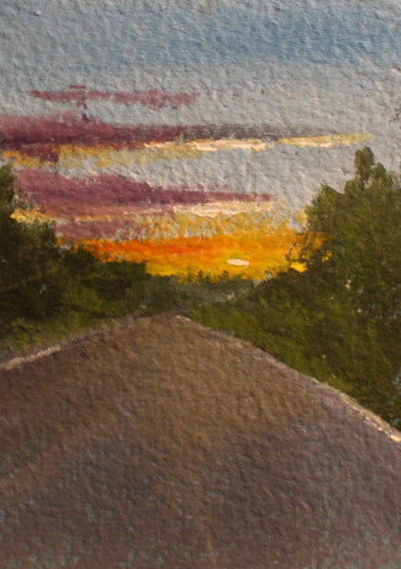 ACEO Sunrise original oil painting