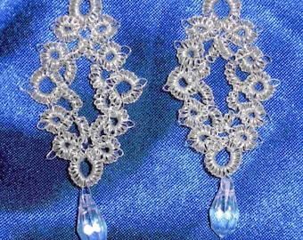 True Silver Tatted Dangle Earrings